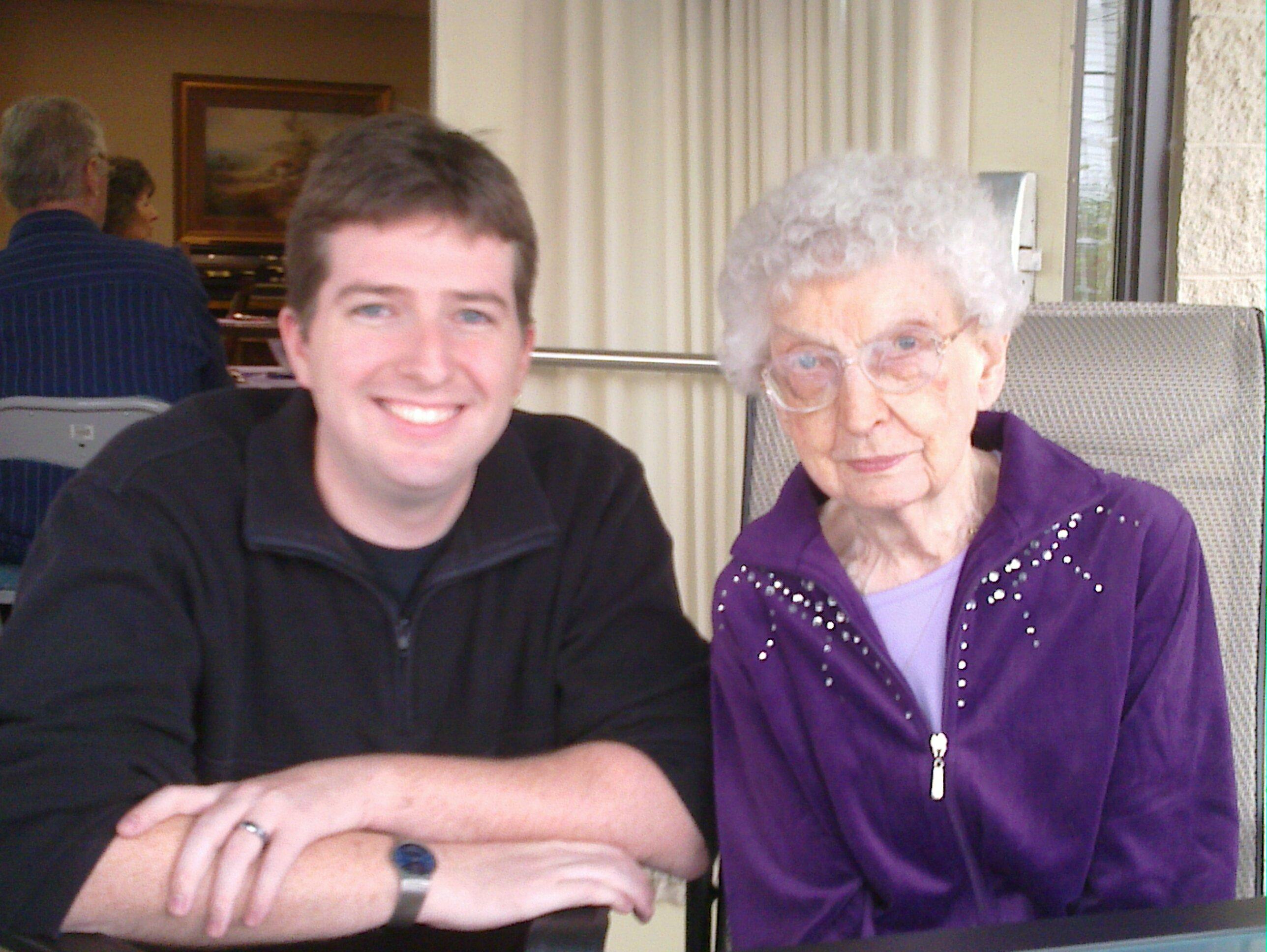 Great Grandma McCoy on her 99th birthday